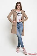 Женское вязаное пальто с капюшоном от производителя