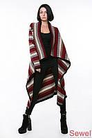 Женская теплая вязаная шаль с принтом | Осень-Весна