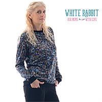 Свитшот для беременных и кормящих White Rabbit Lovely (синие цветочки)