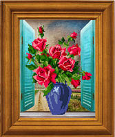 """Рисунок - схема для вышивания бисером """"Розы на окне"""" МА-012"""