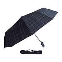 Зонт черный в клетку 302P-05