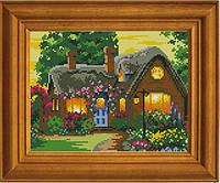 """Схема для вышивания бисером на атласе """"Счастлив тот, кто счастлив дома"""" ЕА-018"""