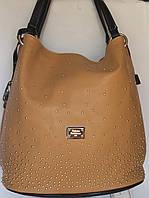 Вместительная сумка бежевого цвета Velina Fabbiano