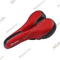 VeloPlus Анатомическое велосипедное седло (красно-черное)