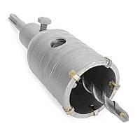 Комплект: сверло корончатое по бетону 46 мм + Переходник SDS Plus 100 мм INTERTOOL SD-7046