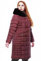 Женское зимнее пальто Лара с мехом 50-52 рр