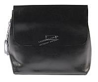 Компактная стильная кожаная женская сумка черного цвета art. 819 Турция