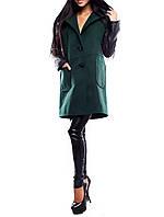 """Модное женское пальто """"Изумрудный Бостон"""" из кашемира"""