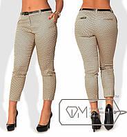 Женские укороченные брюки для пышных дам