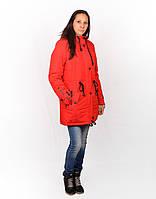 Яркая молодежная женская куртка Роза-0022