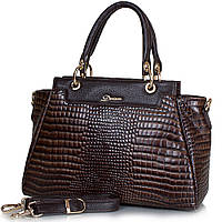 Стильная женская сумка из натуральной кожи DESISAN (ДЕСИСАН) SHI1505-10KR коричневый