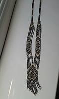 Жіночий гердан в золотисто-чорному кольорі (Женский гердан в золотисто-черном цвете) AG-0006