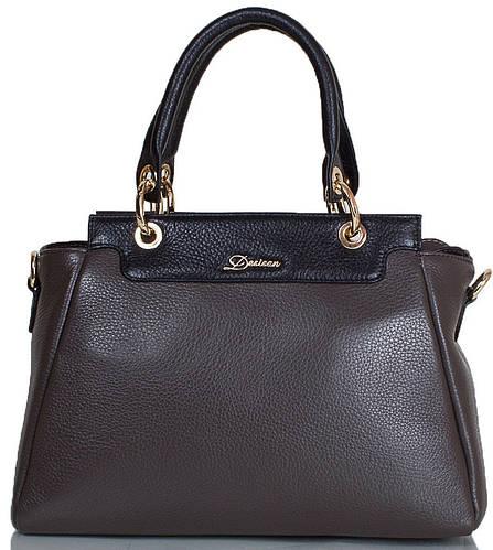 Вместительная женская сумка из натуральной кожи DESISAN (ДЕСИСАН) SHI1505-9FL серый