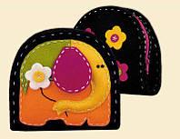 """Набор для вышивания для начинающих «Кошелек/Косметичка """"Слон""""» (1338АС), Риолис"""
