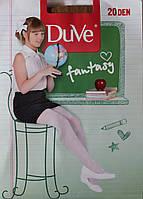 Капроновые колготки для девочки, телесные, 20 den, рост 152-158 см, Duve