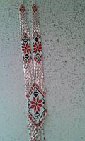 Жіночий гердан в срібно-червоних кольорах (Женский гердан в серебряно-красных цветах) AG-0010