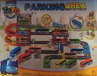 Большой Паркинг трек Тайо 80 *60 см. 4 автобуса