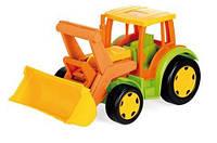 Детский большой игрушечный трактор Wader  Гигант с ковшом