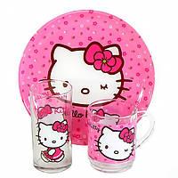 Набор детской посуды Luminarc Hello Kitty Sweet Pink H5483 3 предмета