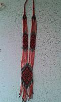 Жіночий гердан з чорною квіткою (Женский гердан с черным цветком) AG-0009