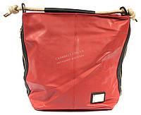 Модная женская сумка красного цвета art.Q708
