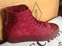 Женские ботинки №2016 (красные)