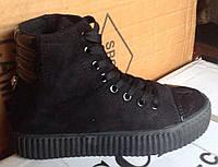 Женские ботинки №2016 (черные)