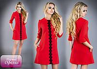 Оригинальное платье «Офелия» украшенное элегантной кружевной лентой РАЗНЫЕ ЦВЕТА!