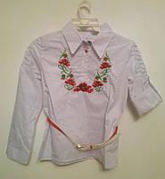 """Детская рубашка с вышивкой """"Воротник"""""""
