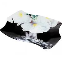 Тарелка Волна 1.29 * 19,5 см (Белые цветы) ST 3811