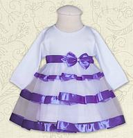 """Платье для девочек """"Маленька Леді"""" с длинным рукавом ТМ Бетис, интерлок"""