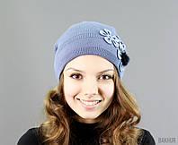 Красивая шапочка с цветочком