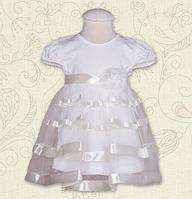 """Платье для девочки """"Маленька Леді"""" с коротким рукавом ТМ Бетис, кулир"""