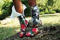 Женские зимние стильные высокие яркие сапоги. Арт-0614