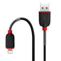 Кабель USB Lightning 8-pin Baseus Spring с пружинкой (black)