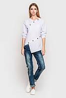Блуза асимметричного кроя белая 6212