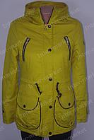 Стильная молодежная   женская куртка парка 2016 на синтапоне осенняя
