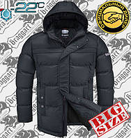 Куртка мужская большого размера Braggart Titans - 4038 темно - серый