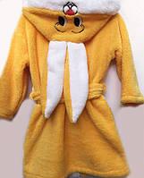 Теплый детский махровый халатик Зайка