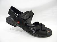 Кожаные мужские сандалии Ecco model 3 черные, полная распродажа р.40,41,42,43,44,45