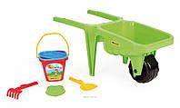 Детская тележка Гигант с набором для песка Wader