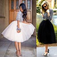 Элегантная пышная юбка из фатина