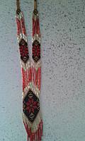 Стильний жіночий гердан з червоною квіткою (Стильный женский гердан с красным цветком) AG-0038