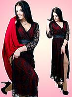 Платье женское больших размеров батал 1505 Ян   $