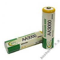 1 Аккумулятор BTY АА 3000mAh Ni-MH