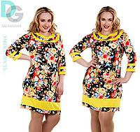 Женское платье больших размеров батал 753 гл $