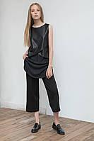 Стильные женские брюки-кюлоты черного цвета