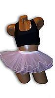 Детская юбка пачка, балерина. Сиреневая.