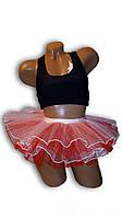 Детская юбка пачка, балерина. Красная.