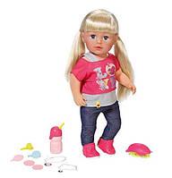 Интерактивная кукла девочка старшая сестра Беби борн оригинальная Zapf Creation Baby born Interactive Sister